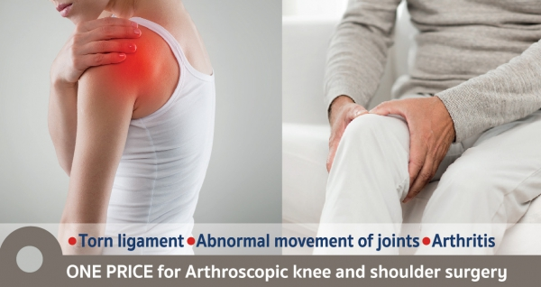 One price for Arthroscopic knee and shoulder surgery