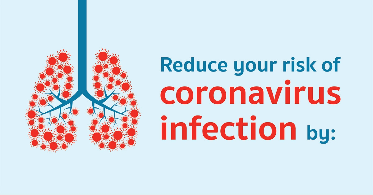 Reduce your risk of corovirus infection