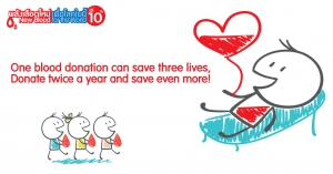 "Join our 10th year blood donation campaign ""New Blood for the World"""