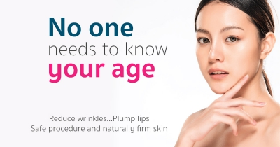 No one needs to know your age, Reduce wrinkles...Plump lips Safe procedure and naturally firm skin
